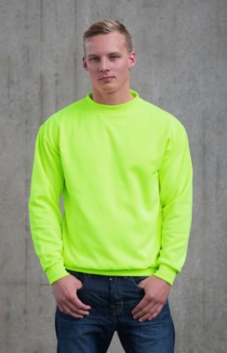 Neon groene sweater voor heren Just Hoods