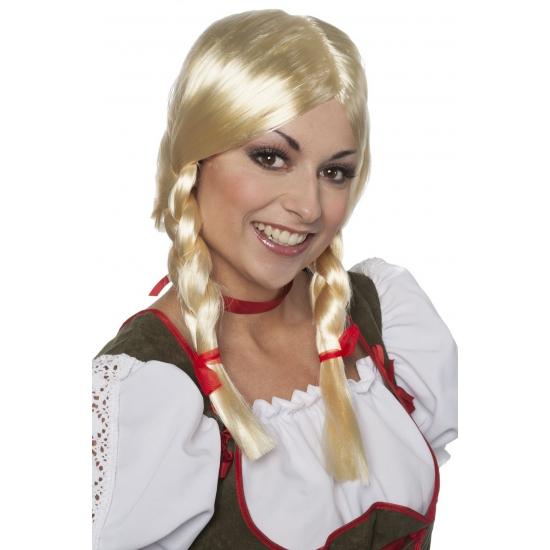 Bierfeest blonde pruik greetje