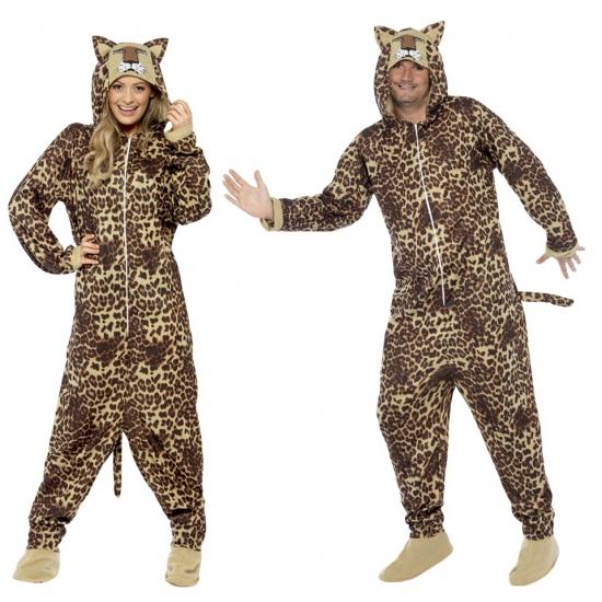 Onesie luipaard voor volwassenen