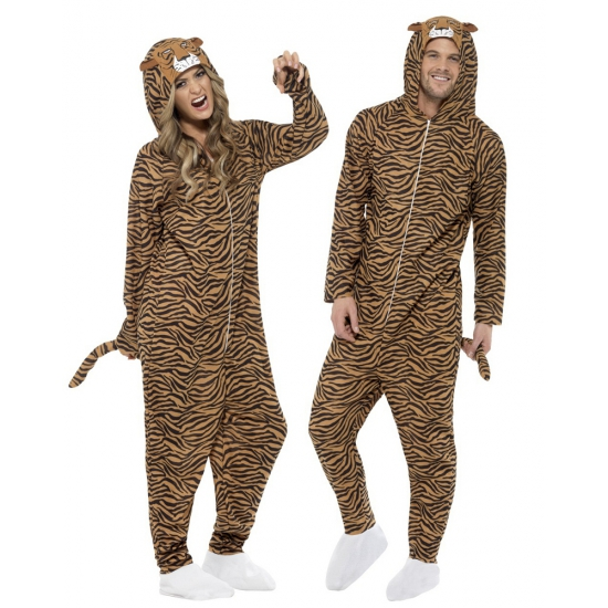 Onesie tijger voor volwassenen