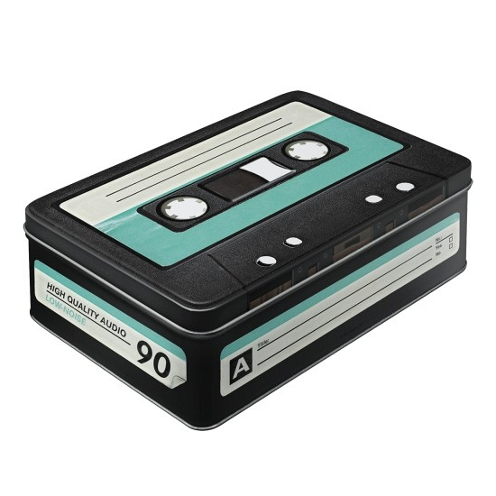 Opbergbox retro 80s cassette