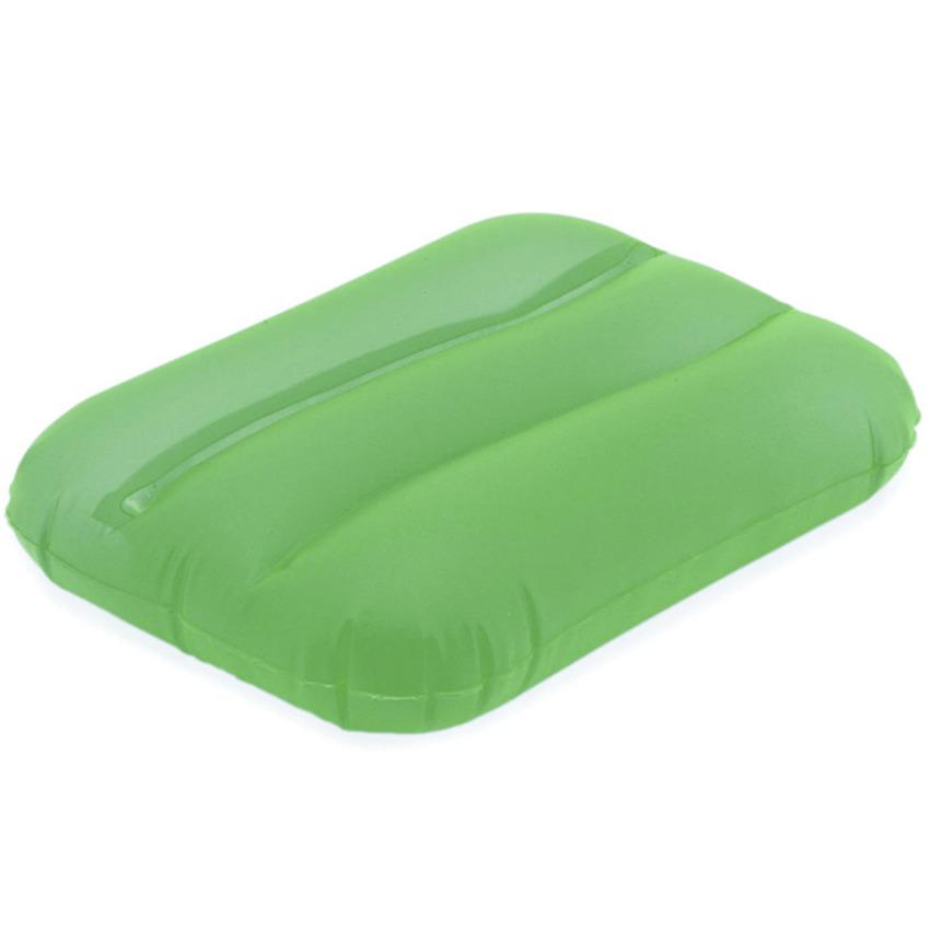 Opblaasbaar kussen groen 32 cm
