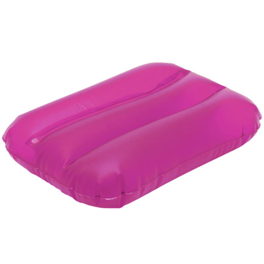 Opblaasbaar kussen roze 32 cm