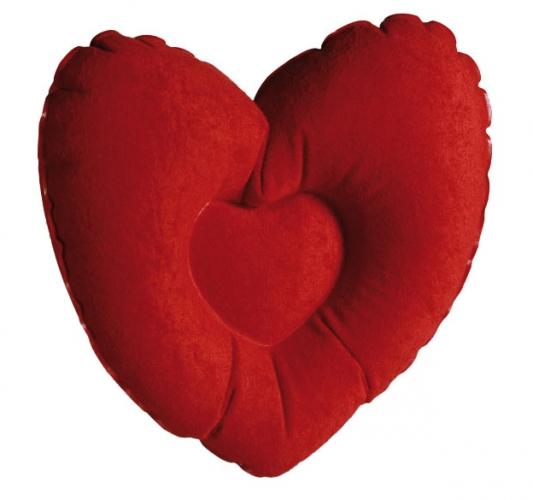Opblaasbaar nekkussen hart 35 cm