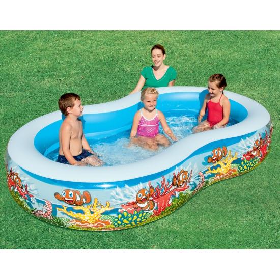 Opblaasbaar zwembad vissen 262 x 157 cm