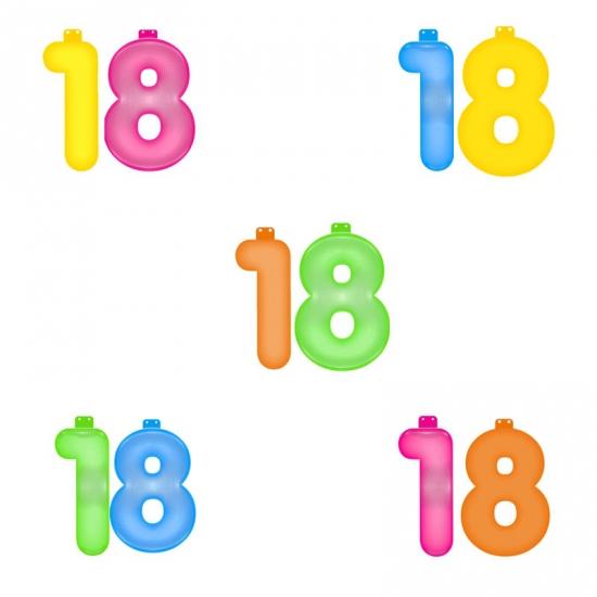 Opblaascijfers 18