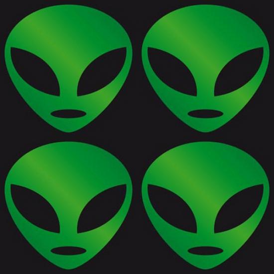 Opvallende stickers groen Alien