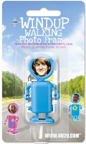 Opwindbare robot foto frame