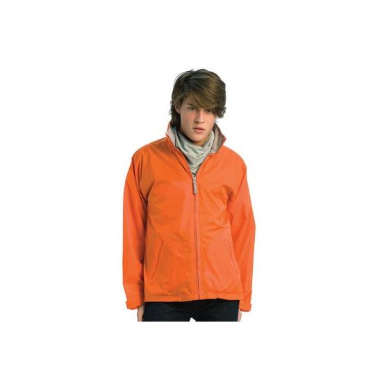 Oranje windbreaker jas nederland