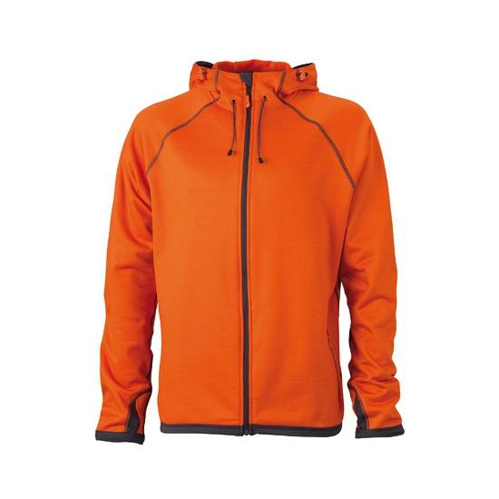 Oranje herenvest van fleece stof