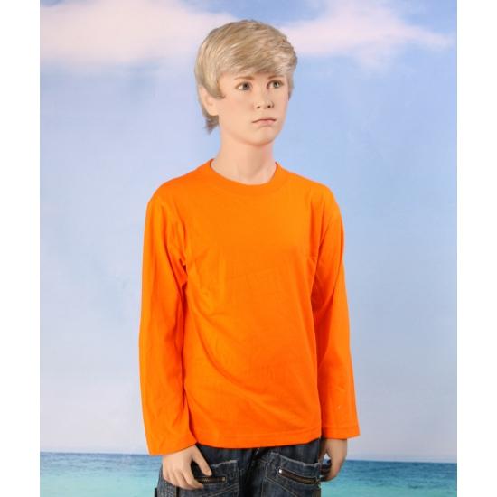 Oranje kids shirt lange mouwen