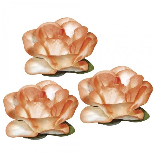 Oranje knutsel bloemetjes 1, 5 cm