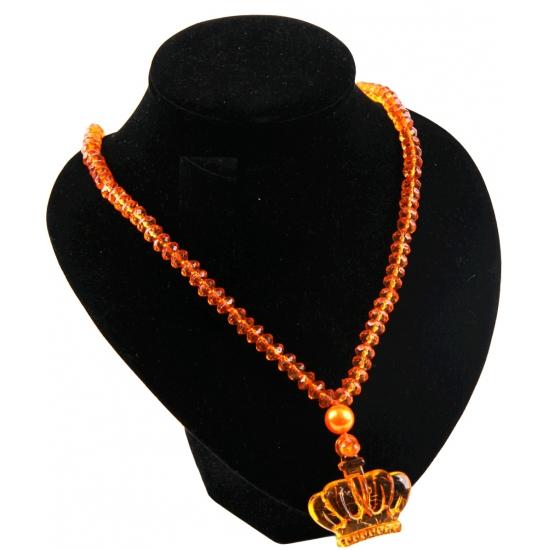 Oranje kettingen kroontjes