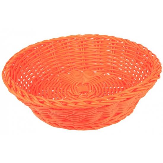 Oranje opbergmandje rond 25 cm