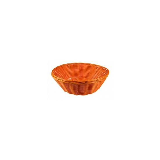 Oranje rieten mandje 25 cm