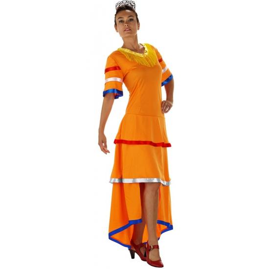Oranje Samba jurk