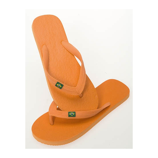 Oranje strand slippers voor heren