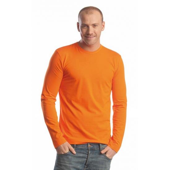 Oranje shirt lange mouwen