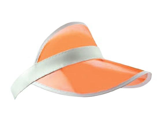 Oranje zonneklep transparant