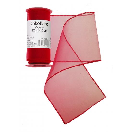 Organza rol rood 12 x 300 cm
