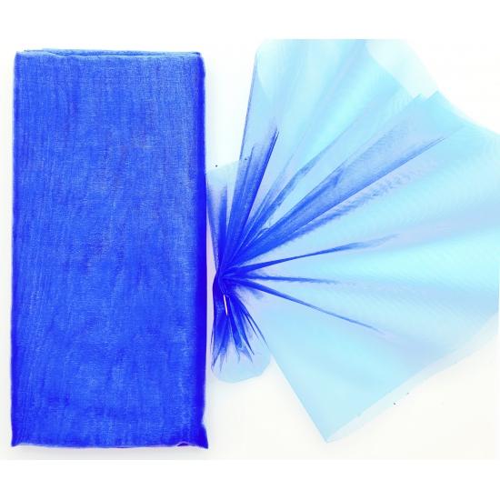 Organza stof blauw op rol 150 x 300 cm