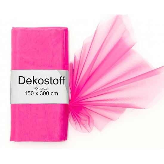 Organza stof roze op rol 150 x 300 cm