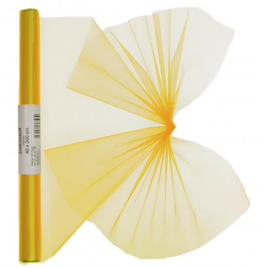 Organza strook geel 40 x 200 cm