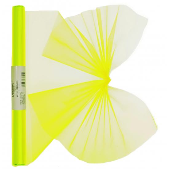 Organza strook neon geel 40 x 200 cm