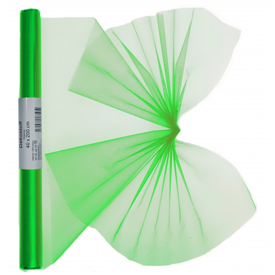 Organza tule rol groen 40 x 200 cm