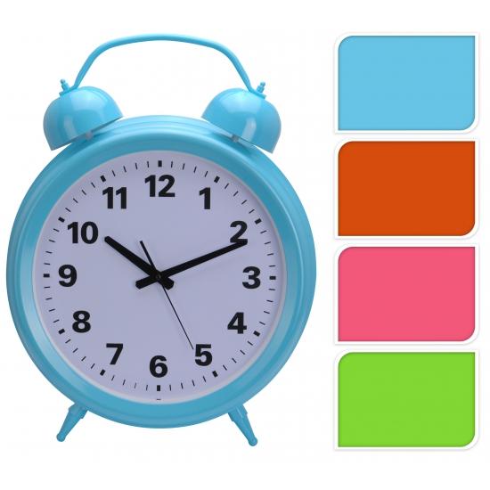 Ouderwetse staande klok roze voor kinderkamer