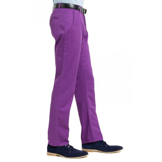 Paarse chino broek heren