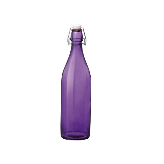 Paarse giara fles met beugeldop