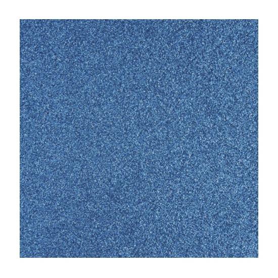 Papier glitter blauw vel