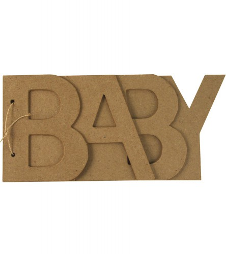 Papier mache boekje BABY