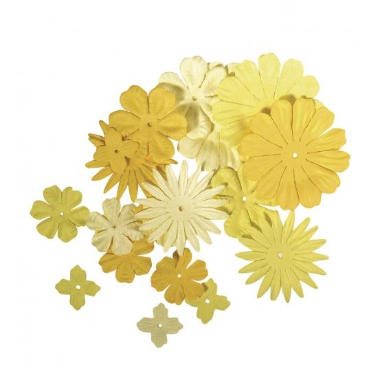 Papieren hobby bloemen geel