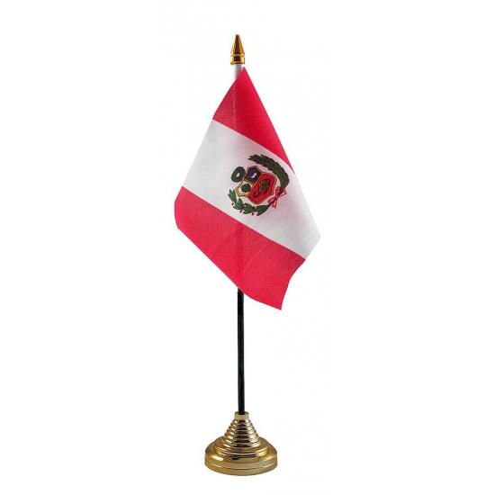 Peru tafelvlaggetje inclusief standaard