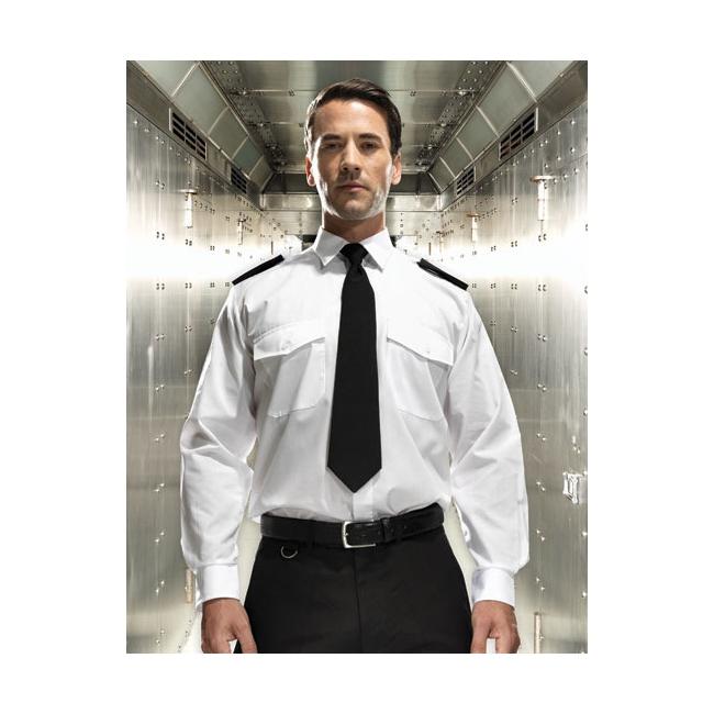 Piloten overhemd lange mouw