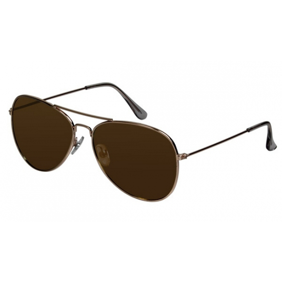 6b162011223a8d Piloten zonnebril met bruine glazen