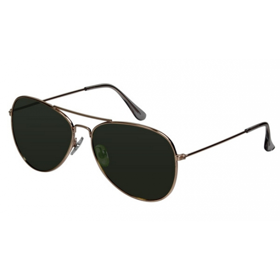 Pilotenbril met groene glazen