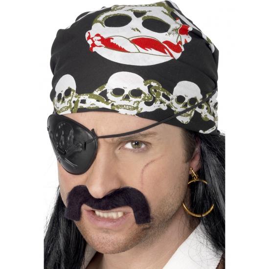 Piraten bandana met doodskoppen