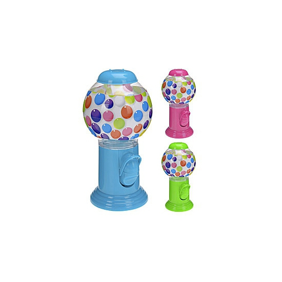 Plastic kauwgomballen automaat roze