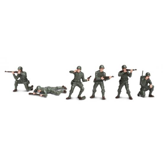 Plastic soldaten 6 stuks