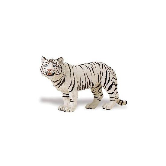 Plastic speelgoed witte Bengaalse tijgerin 14 cm