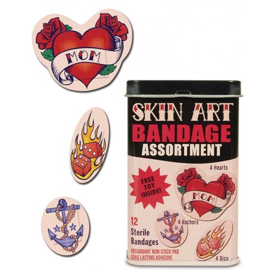 Pleisters in de vorm van tatoeages