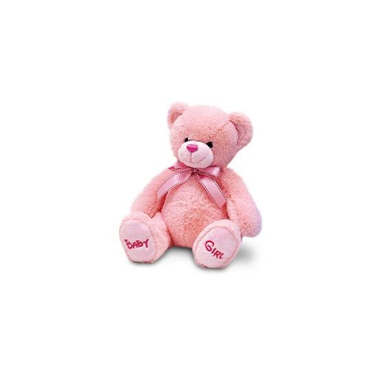 Pluche baby girl beer roze 25 cm