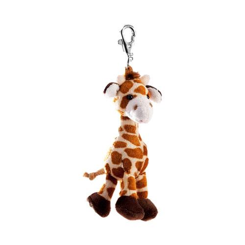 Pluche giraffe sleutelhanger