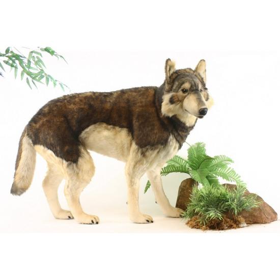 Pluche grote wolf 100 cm