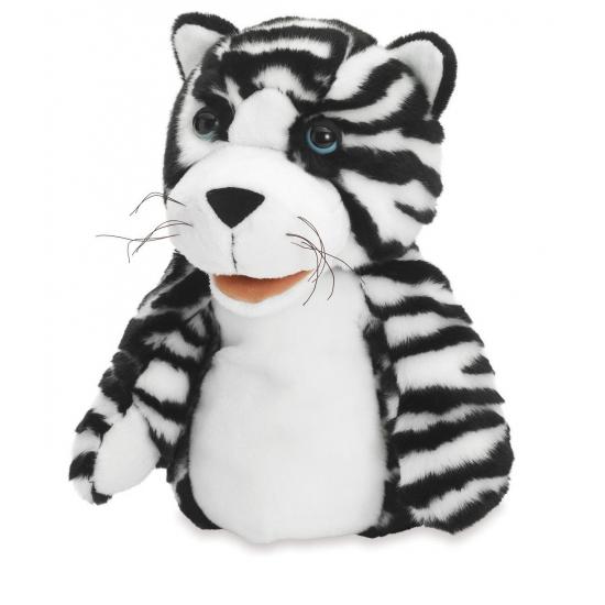 Pluche handpop tijger Tilda