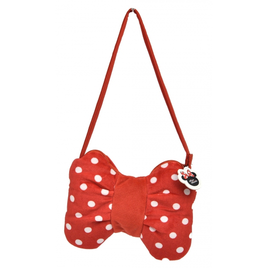 Pluche handtas Minnie Mouse strik