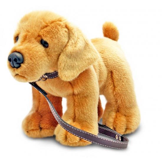 Pluche Labrador aan lijn